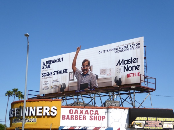Master of None 2016 Emmy Shoukath Ansari billboard