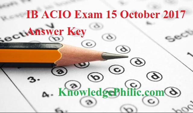 IB ACIO Exam 15 October 2017 Answer Key