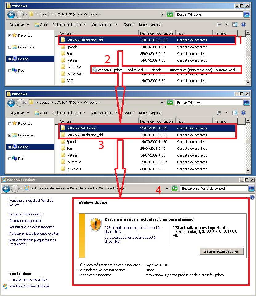 Pantallazos.es: Windows Update: No funciona - Error 8024400A.