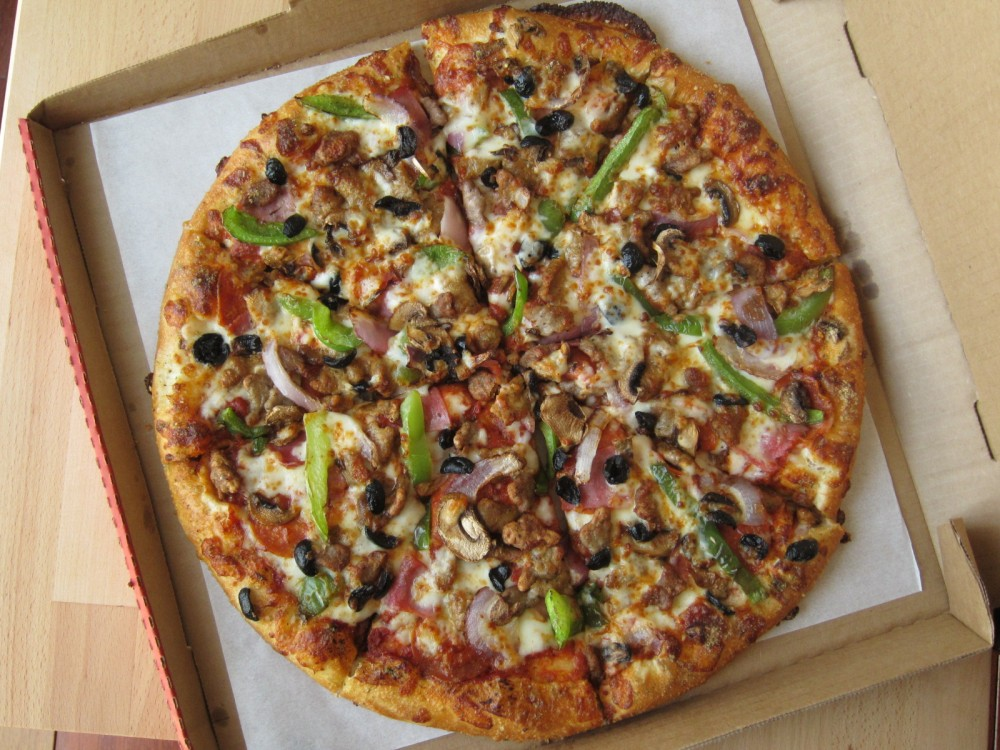 Review Pizza Hut New Hand Tossed Pizza Brand Eating