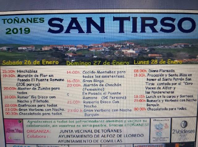 Fiestas de San Tirso 2019 en Toñanes