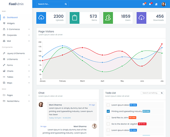 Fixed Admin Bootstrap Admin Dashboard Template Free Download - seo ...