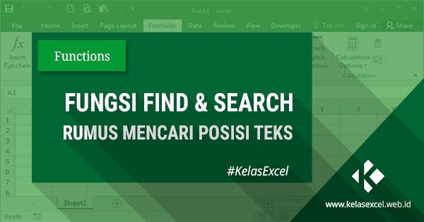 Mencari Posisi Teks dengan Fungsi FIND dan SEARCH Excel