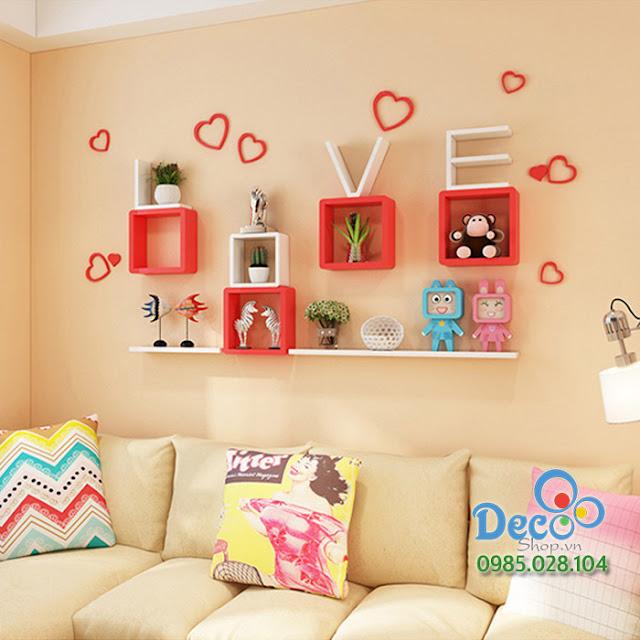 Kệ gỗ treo tường Deco KH48
