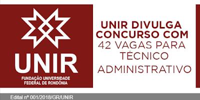 Concurso UNIR - Apostilas Cargos Nível Superior e Médio