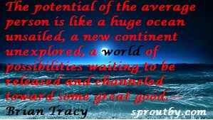 #Brian Tracy Quotes #Potential Quotes #Vision Quote #www.sproutby.com #Picture Quotes