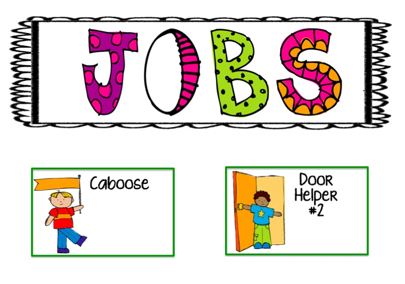 kindergarten clipart classroom jobs - photo #1
