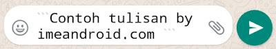 Cara menulis whatsapp