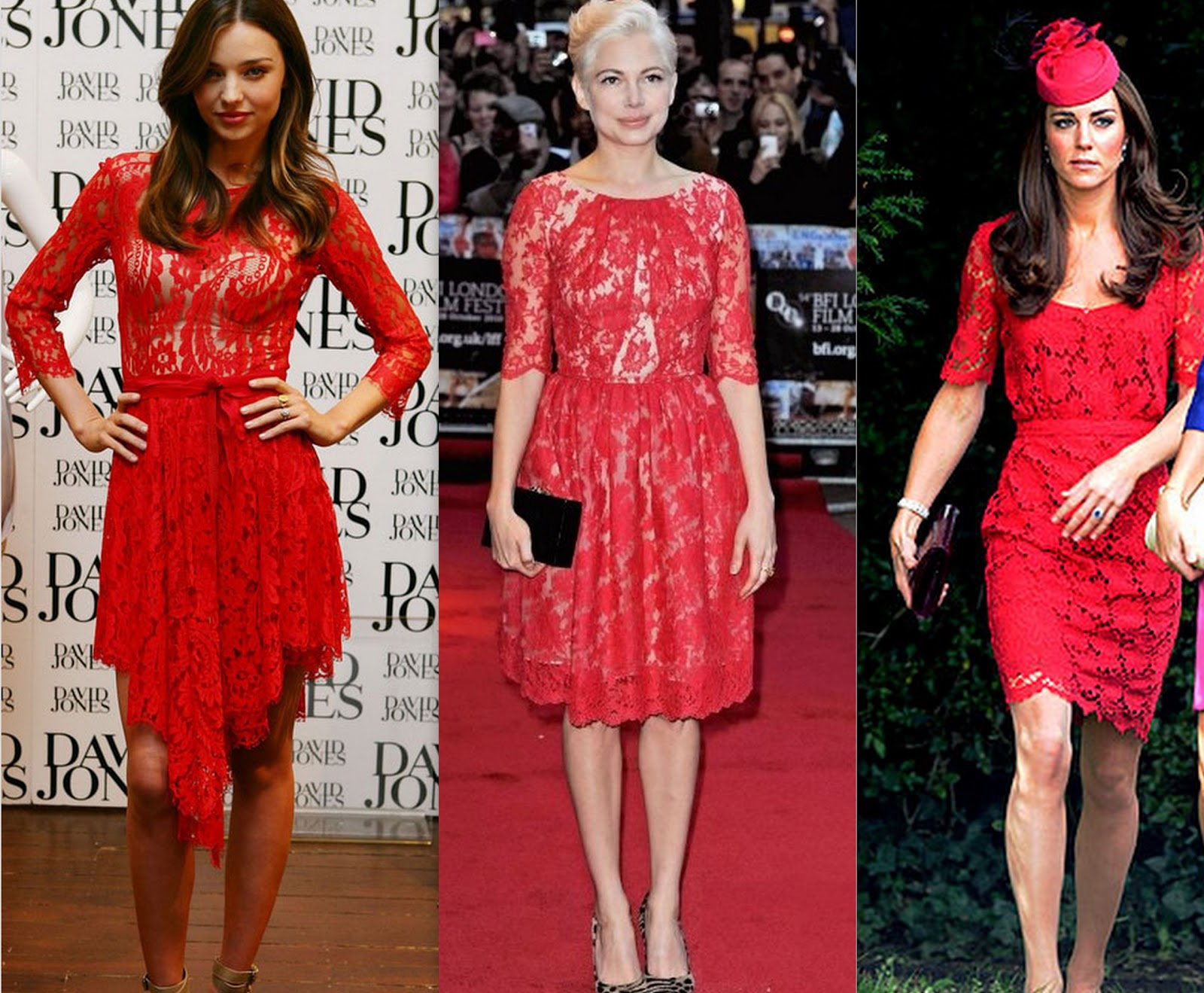 Style-Delights: How To Style A Red Lace Dress : Holiday ...
