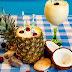 Smoothie de piña colada-delicioso y refrescante-