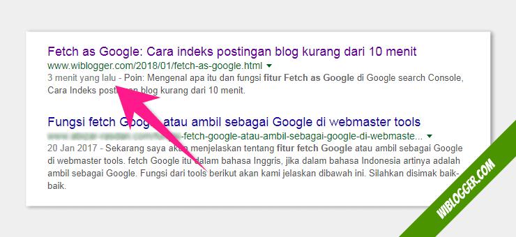cara agar postingan blog berada digoogle