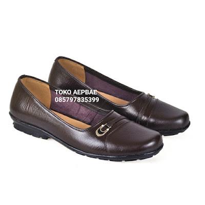 Sepatu Formal Wanita Kulit Coklat