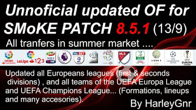 "PES 2016 UPDATE 5 ""OF"" for Smoke Patch 8.5.1 (Update 6) by HarleyGnr"