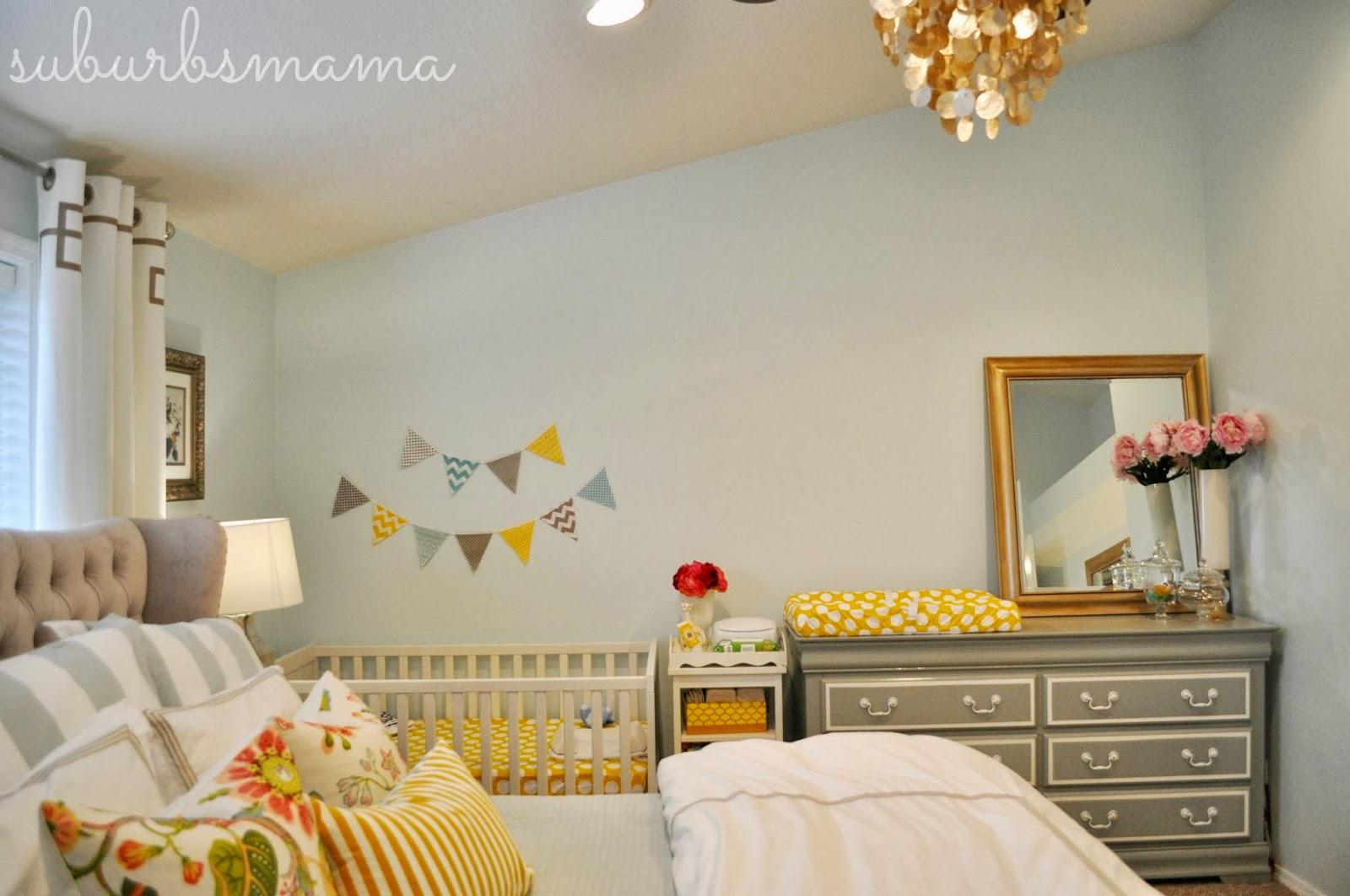 Suburbs Mama: Nursery in Master Bedroom