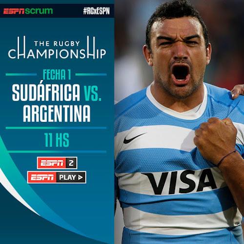 Sudáfrica - Argentina (en vivo, Rugby Championship, ESPN 2)
