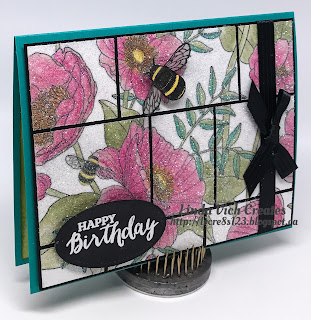 Linda Vich Creates: Glitter Grid Birthday. Inside The Lines DSP takes centre stage on this cheerful birthday card that uses the Glitter Grid Technique.