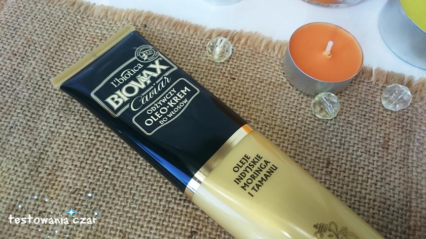Moja pielęgnacja włosów z oleo-kremem L'biotica BIOVAX Caviar