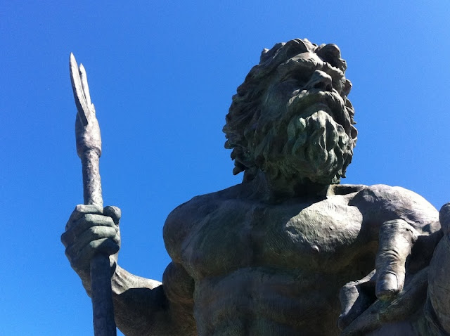 Close up of Neptune Statue at Virginia Beach
