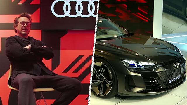 Audi e-tron GT eléctrico aparece de la mano de 'Iron Man'