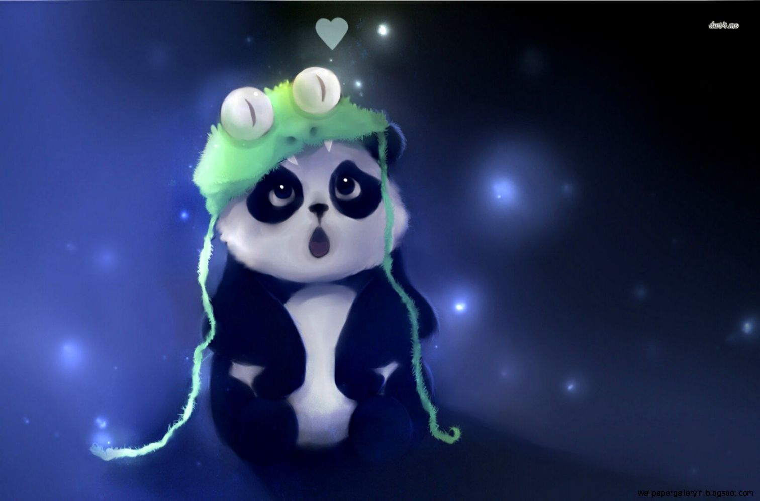 Cute Baby Panda Artwork Wallpaper | Wallpaper Gallery