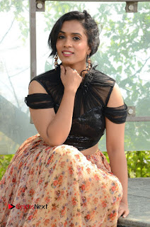 Actress Chetana Uttej Stills in Floral Long Skirt at Pichiga Nachav Movie Press Meet  0039.JPG