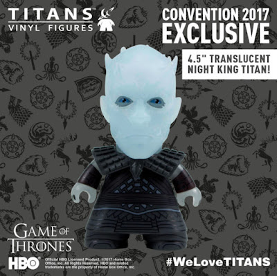 "San Diego Comic-Con 2017 Exclusive Game of Thrones Titans 4.5"" Vinyl Figures by Titan Entertainment - Translucent Night King"