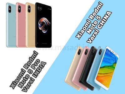 Perbedaan Xiaomi Redmi Note 5 pro
