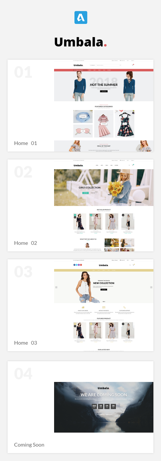 Umbala - Stylish Fashion Clothing WooCommerce Theme for free