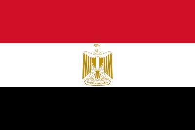 Logo Gambar Bendera Negara Mesir PNG JPG ukuran 400 px