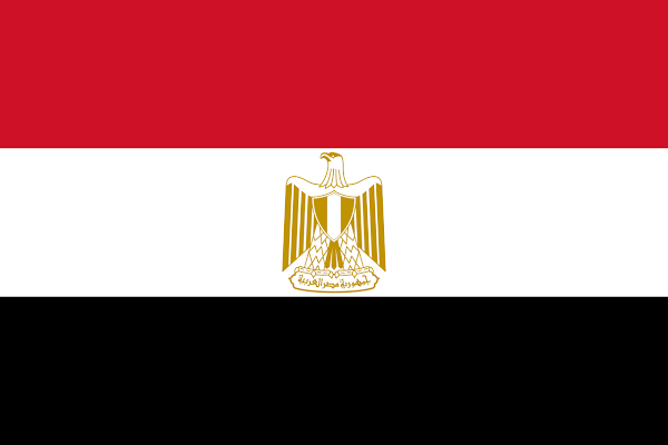 Logo Gambar Bendera Negara Mesir PNG JPG ukuran 600 px