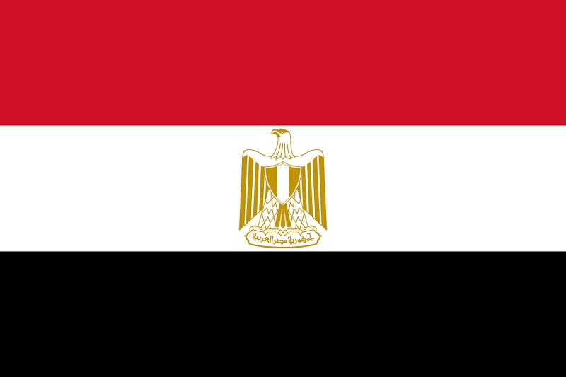 Logo Gambar Bendera Negara Mesir PNG JPG ukuran 800 px