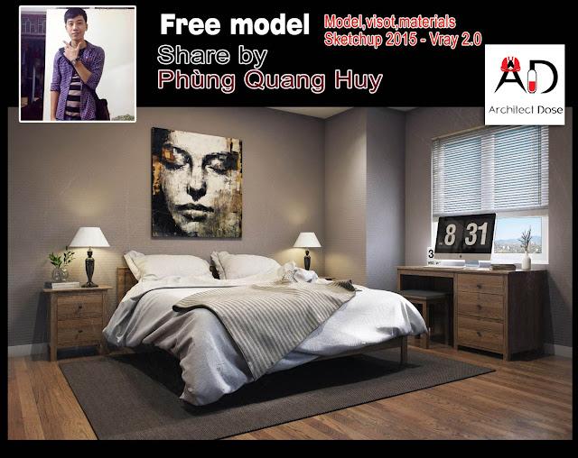 Free Sketchup Models - Bedroom