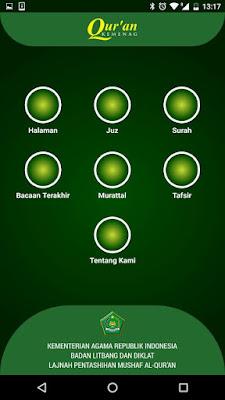 Fitur-fitur Qur'an Kemenag - Aplikasi Alquran Android Resmi dari Pemerintah
