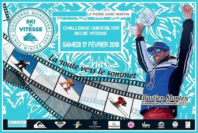 Challenge Quicksilver Ski de vitesse La Pierre Saint Martin 2018