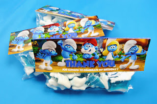 Smurfs The Lost Village party favors