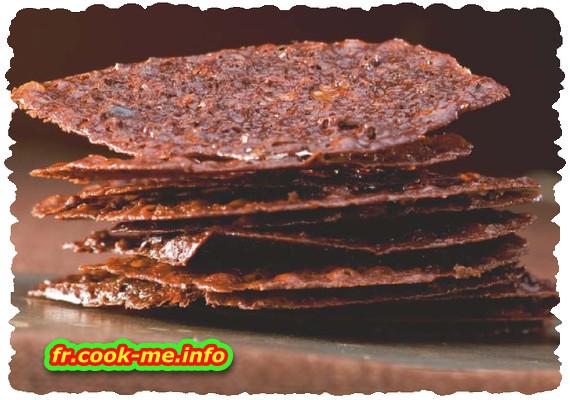 Tuiles au grué de cacao