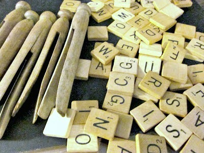 Repurposed Vintage Scrabble Ornaments for Christmas
