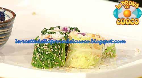 Sushi vegetariano ricetta marco bianchi da la prova del cuoco for Cucinare vegetariano