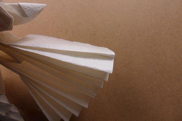 Ангел в технике трехмерное оригами из бумаги (5)
