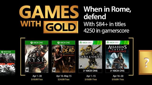 Presentados los juegos del Gold de abril, ¡Ryse y The Walking Dead T2!