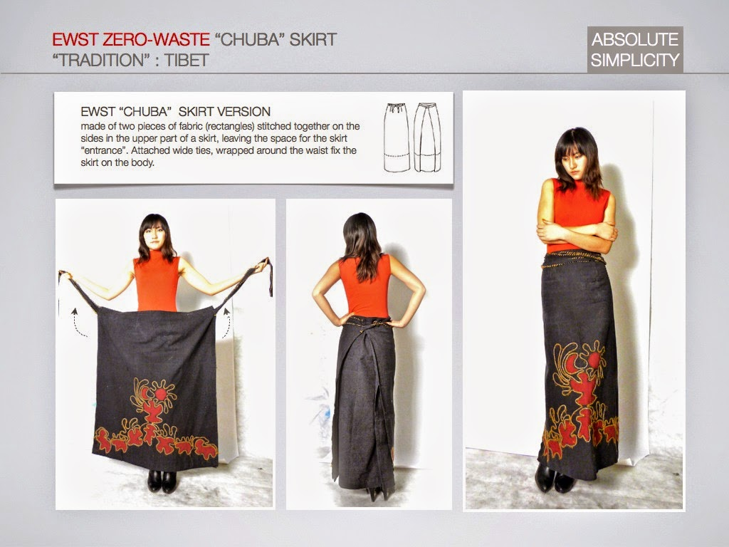 Elena Fashion Design Workshops Zero Waste Design Projects Chuba Skirt