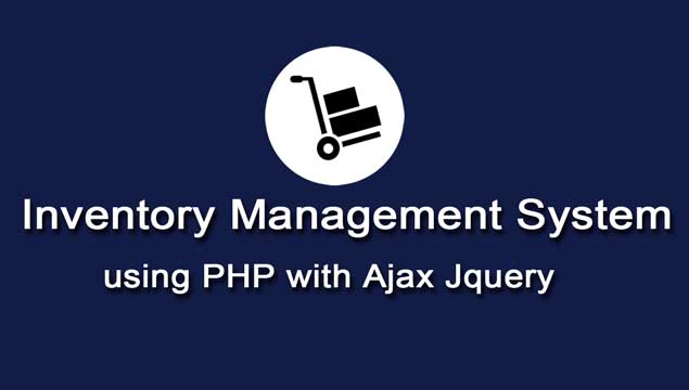 PHP Mysql Inventory Management System using Ajax | Webslesson