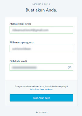 Membuat akun di wordpress