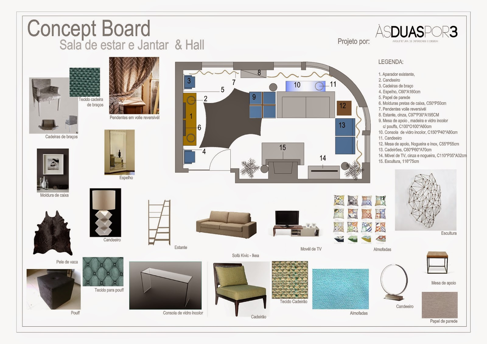 S duas por tr s arquitetura de interiores e decora o for Concept sheet for interior design