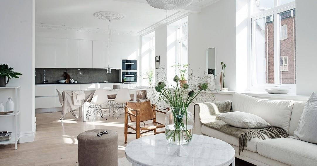 Alb imaculat i accente neutre ntr un apartament de 4 for Al saffar interior decoration l l c