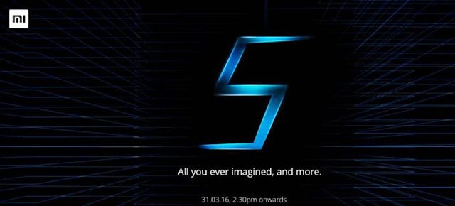 Xiaomi Mi5 Smartphone Launching on 31st March in India