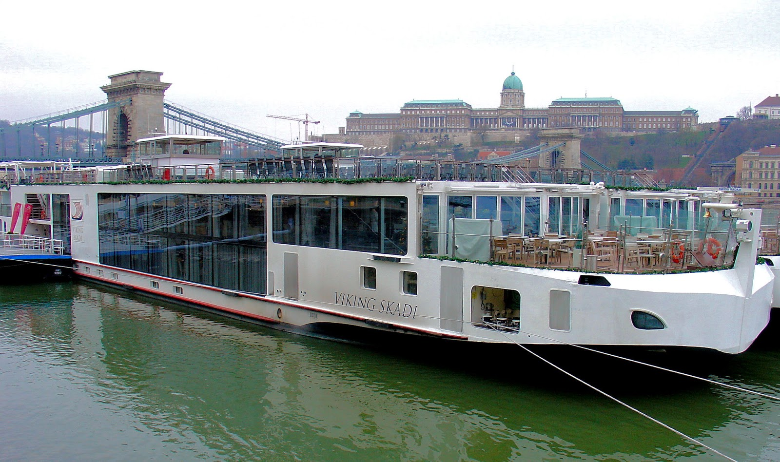 Viking River Cruises' 'Viking Skadi' docked in Budapest. Photo: EuroTravelogue™. Unauthorized use is prohibited.