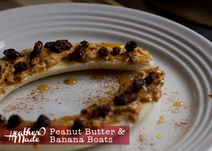 Peanut Butter & Banana Boats. recipe. quick & easy breakfast.