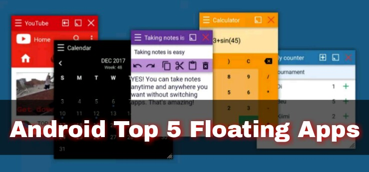 android floating apps