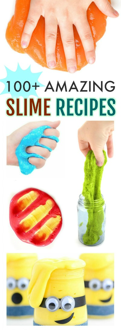 100+ SLIME RECIPES: THE ULTIMATE LIST! From goops to goos it's all here! #slimerecipes #slime #playrecipes #kidscrafts